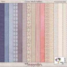 Paper Pack Cross Stitch Addict by ninigoesdigi