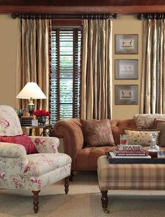 Image: www.calicocorners.com. Kingston Fabric Collection - Room View: http://www.calicocorners.com/category/landingpage/kingston.do.  #tufting #customdetails