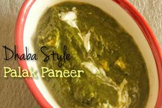 Dhaba Style Palak Paneer Learn to make delightfully simple and tasty Dhaba style Palak Paneer - fresh spinach leaves cooked with cottage cheese cubes.