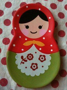 Matryoshka Russian Doll Plate.                                                                                                                                                     Más