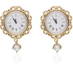 Dolce & Gabbana Clock Strikes Midnight Chandelier Earrings ($795) ❤ liked on Polyvore featuring jewelry, earrings, accessories, chandelier jewelry, chains jewelry, chandelier earrings, earrings jewelry and chain earrings