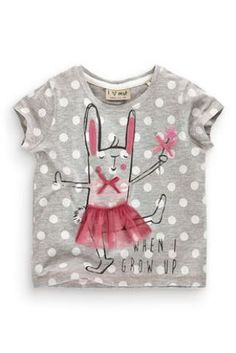 Buy Grey Ballet Bunny T-shirt (3mths-6yrs) from the Next UK online shop