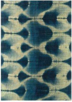 Indigo decorative fabric (linen)- TSURUOKA