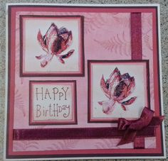 Card by Mitch playing with my new Lotus Blossom set from Stampin up New Lotus, Hand Stamped Cards, Cool Cards, Stampin Up Cards, I Card, Card Ideas, Card Making, Happy Birthday, Scrapbooking