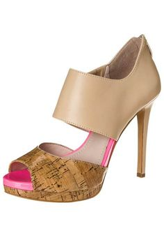 Vince Camuto CANADAY High Heel Peeptoe petal natural/neon pink von Vince Camuto