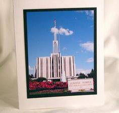 LDS Church Seattle Temple Photo Note Cards Set of 3 | GracefulArts - Cards on ArtFire