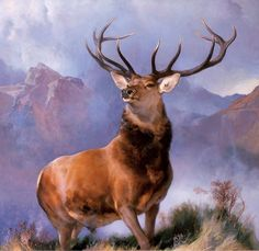 Monarch of the Glen 1851, by Edwin Henry Landseer 1802–1873, oil on canvas, 165.8 x 171.2 cm National Museums Scotland