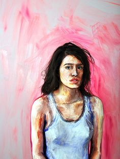 """""""Synthesized"""" by Alexa Meade. Alexa Meade is a 25 year-old artist who has developed an approach to portraiture that involves painting directly on top of her human subjects in a style that perceptually compresses 3D space into a 2D plane. The project is a fusion of painting, photography, performance, and installation."""