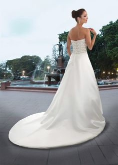 Style 8393 » Wedding Gowns » DaVinci Bridal » Available Colours : Ivory/Silver, Ivory/Ivory, White/Silver, White/White (back)