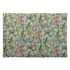 Shop William Morris Golden Lily Floral Chintz Pattern Cloth Placemat created by Bramblewood.