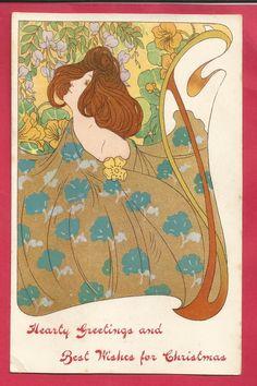 Art Nouveau Lady Attributed to Georges de Feure   eBay