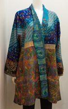 Mieko Mintz - Vintage Silk Kantha KIMONO LONG JACKET Archive