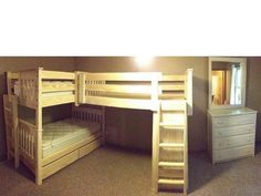 Arched Mission Twin Bunk Bed With Winter White Stain