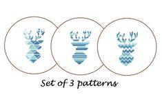 Deer cross stitch Modern Cross Stitch Pattern par ZindagiDesigns