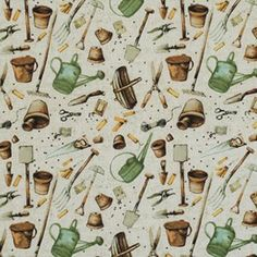 Marjolein Bastin Marjolein's Garden Fabric - Garden Tools - Sand