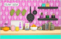 Kitchen clutter at Lina Cherie via Sims 4 Updates
