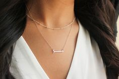 Layering Necklace Layered necklace Arrow by PROJECTDAHLIA on Etsy