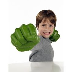Marvel Avengers Assemble Hulk Gamma Green Smash Fists Combine them with the Hulk Hero Mask, sold separately, for even more Hulk awesomeness. They are foam so have some give but are tough and easy to use.