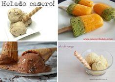 4 helados caseros facilísimos! | Cocina