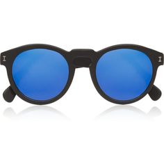 Illesteva Leonard round-frame acetate mirrored sunglasses (€165) ❤ liked on Polyvore featuring accessories, eyewear, sunglasses, glasses, blue, mirrored sunglasses, mirror lens sunglasses, blue mirrored sunglasses, blue round sunglasses and illesteva sunglasses