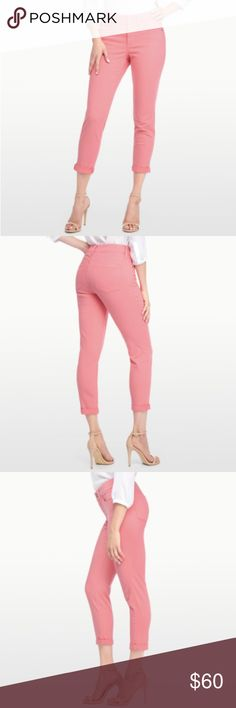 NWT NYDJ ALINA CONVERTIBLE ANKLE pale guava 14 NWT NYDJ ALINA CONVERTIBLE ANKLE pale guava size 14 Style #: M77Z1864 97% Cotton, 3% Spandex Remember to select one size smaller for the perfect fit A new fit in the NYDJ family, our Alina Convertible Ankle features a slim silhouette with a shorter inseam that hits just above the ankle. The cuffed hem adds a casual touch to this slimming pant. With classic five-pocket styling, a zip fly with button closure, and of course our amazing Lift Tuck®…