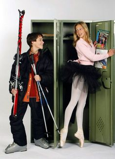 JT Yorke (Ryan Cooley) and Emma Nelson (Miriam McDonald) from Degrassi TNG