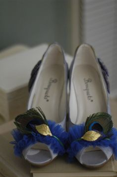 peacock decorated wedding heels for only $40 !