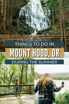 Awesome Things to do in Mount Hood Oregon For a Weekend | Ready to escape the summer heat for the cool Pacific Northwest forest? Mount Hood is the perfect place to do just that! From easy Portland day trips to long weekend vacations, there is plenty of adventure to be had here! #oregon #Mounthood #PNW #pacificnorthwest Oregon Coast Hikes, Oregon Road Trip, State Of Oregon, Hood River Fruit Loop, Ramona Falls, Trillium Lake, Adventurous Things To Do, Oregon Waterfalls, Weekend Vacations