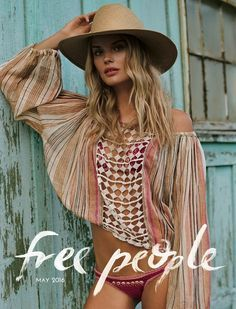 Get ready for a summer vacation getaway with Free People's May 2016 catalog. Starring models Alena Blohm, Marine Deleeuw and Donya Gorelova… Hippie Chic, Bohemian Style, Bohemian Fashion, Bohemian Tops, Alena Blohm, Tropical Fashion, Moda Boho, Fashion Catalogue, 2 Instagram