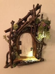 Fairy Door ~ Every Unique ~ Handmade by Olive, Fairy Accessories, Fairy . - Fairy Door ~ Any Unique ~ Handmade by Olive, Fairy Accessories, Fairy … – Land of the Imp – - Fairy Garden Doors, Fairy Garden Furniture, Fairy Doors, Garden Gazebo, Diy Fairy Door, Fairy Tree Houses, Fairy Garden Houses, Fairy Crafts, Garden Crafts