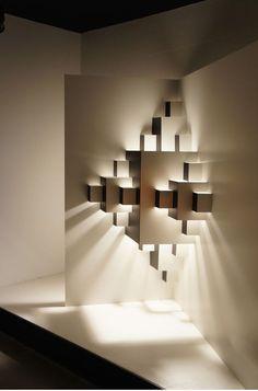Sculptural enlightened corner