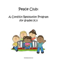 Peace Club: A Conflict Resolution Curriculum forTeachers and School Counselors Elementary School Counseling, School Social Work, School Counselor, Social Emotional Learning, Social Skills, Conflict Management, Anger Management, Counseling Activities, Group Counseling