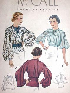 McCall Blouse Pattern No 8599