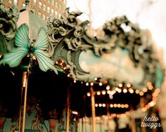 New York Photo Carnival Ride Carousel Dreamy by hellotwiggs, $15.00