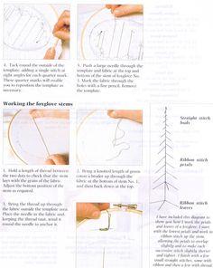 Silk ribbon embroidery. Ann Cox (Вышивка лентами)