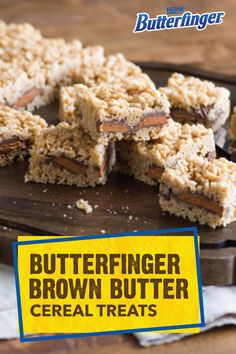 No matter what the occasion, these Butterfinger Brown Butter Cereal Treats are sure to be a hit at every party you attend. Plus, you'll love how easy it is to make this no-bake recipe. All you need are marshmallows, peanut butter, rice cereal, and BUTTERFINGER® Peanut Butter cups. This dessert will quickly become a crowd favorite.
