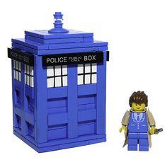Lego Doctor Who & TARDIS by mcmorran, via Flickr