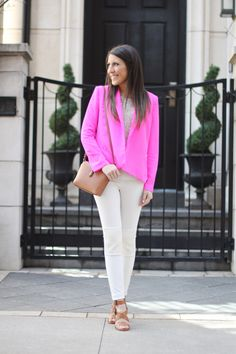 Switch out your boring black blazer for a #bold , #pink one to update your spring and summer look via life and style blogger #StephanieSterjovski !