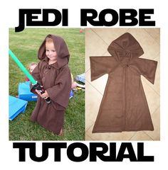 Jedi Robe Costume Pattern & Tutorial. $5.99, via Etsy. It's all my husband's fault!!! He let them play the Star Wars video game and now they are obsessed!