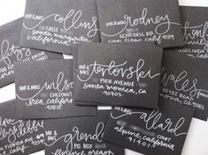 love these hand lettered envelopes