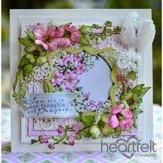 Framed Dogwood Card