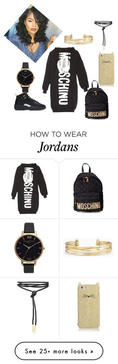 """""""Untitled #48"""" by morgangates108 on Polyvore featuring Moschino, Kate Spade, Stella & Dot, Olivia Burton and NIKE"""