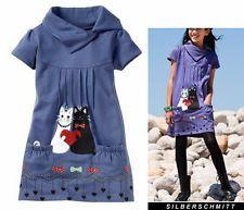 Sweatshirt Kleid Katze GR. 140/146  Jeans-blau 936824 Neu