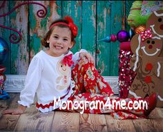 Can't Catch Me I'm the Gingerbread Man Girls Applique Holiday Tee