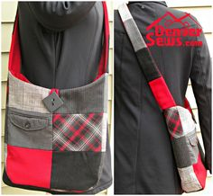 Refashioned Bag made from wool skirts and wool pants ~ Denver Sewing Collective Inspiration!