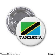 Tanzania Flag 1 Inch Round Button