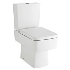 Bliss Close Coupled Square Toilet inc Standard or Soft Close Seat Option