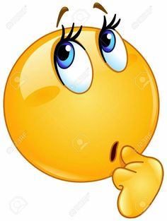 A thinking emoticon smiley face character looking interested with hand on chin. Smiley Face Images, Emoji Images, Emoji Pictures, Animated Emoticons, Funny Emoticons, Emoticons Text, Thinking Emoticon, Images Esthétiques, Emoji Drawings