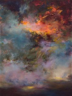 "Saatchi Art Artist: Rikka Ayasaki; Acrylic Painting ""Passions, twilight 7005 (Painted in 2011, 80x60x5cm)"""