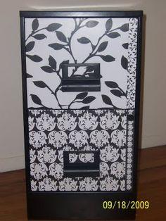 Mod Podge filing cabinet makeover